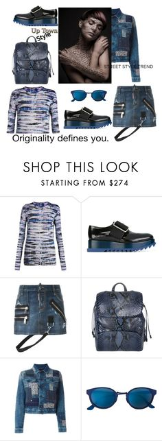 """""""Up Town style-Jeans Jacket"""" by zabead ❤ liked on Polyvore featuring Proenza Schouler, Jil Sander, Dsquared2, Ettore Bugatti, Diesel, RetroSuperFuture, jeanjackets and polyvorecontest"""