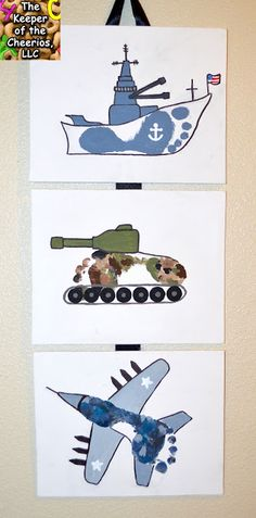 Army, Navy and Air Force Footprint Craft – The Keeper of the Cheerios - Kinderspiele