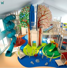 45 Trendy Home Gym Kids Indoor Play Daycare Design, Playroom Design, Kids Room Design, Playroom Ideas, Kids Indoor Playground, Playground Design, Girl Bedroom Designs, Kids Bedroom, Indoor Playroom