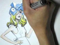 Lady Gaga Fan Art Fashion Illustration Poster Design by Leilani Joy