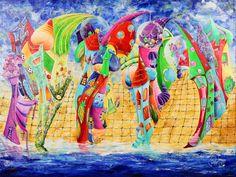El color de las calles | The color of the streets | Acrílico sobre lienzo | Acrylic on canvas by Pili Tejedo