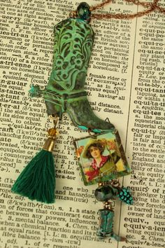 Urban Cowgirl Boot Charm Necklace Handcrafted Urban Gypsy Charm Necklace Indianapolis Shop by UrbanGypsyIndy on Etsy