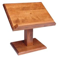 Amish Hardwood Small Cookbook Stand or Bible StandSolid Wood Crafts and Toys CollectionA gorgeous solid wood stand handmade in your choice of oak or cherry wood, the Amish Hardwood Small Cookb Easy Woodworking Projects, Popular Woodworking, Woodworking Furniture, Wood Projects, Woodworking Store, Woodworking Machinery, Woodworking Workbench, Book Holder Stand, Book Holders