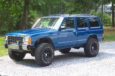 Blue Jeep XJ #jeep #xj