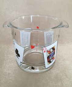 Luminarc Ice Bucket Card Party Card Suit Bowl Glass by DotnBettys