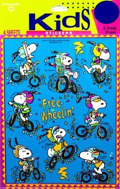 Joe Cool Free-Wheelin' Stickers