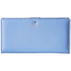 Kate Spade New York Cobble Hill Visa Blue Leather Wallet