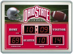 Ohio St Buckeyes Football Scoreboard Logo Wall Clock