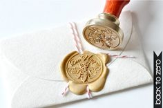 Bee Happy Gold Plated Wax Seal Stamp x 1. $20.00, via Etsy. - cutest custom stamps - include awesome initials, mustache, states, and much more