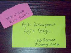 agile-development-agile-design-web-20-expo-berlin by leisa reichelt via Slideshare