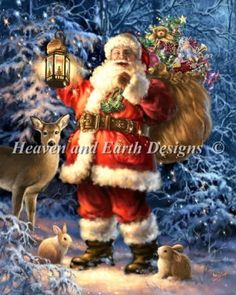 Love ,Believe in Santa Claus. I believe and Love in Santa Claus Celebrating all things Christmas! ☆ For everyone who loves christmas ☆ Christmas Scenes, Father Christmas, Santa Christmas, Christmas Pictures, Winter Christmas, Christmas Glitter, Christmas Mantles, Christmas Canvas, Primitive Christmas