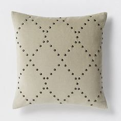 Studded Velvet Ogee Pillow Cover - Putty #westelm New at West Elm...STUDDED????