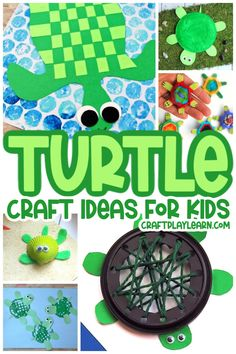 No wonder kids are fascinated by turtles. If you love turtles as much as we do, you're going to love this list of turtle crafts for kids. Summer Crafts For Kids, Easy Crafts For Kids, Craft Activities For Kids, Simple Crafts, Creative Crafts, Craft Ideas, Beach Themed Crafts, Ocean Crafts, Fish Crafts