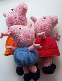 Кукляндия: Мама Свинка Peppa Pig Crochet, Peppa Pig Amigurumi, Amigurumi Doll, Crochet Dolls, Crochet Baby, Teddy Bear Patterns Free, Crochet Toys Patterns, Amigurumi Patterns, Stuffed Toys Patterns