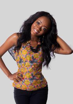 African Print top Miss Malaika Ghana