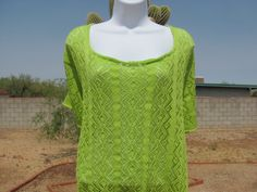 Diamond Lace Tee  Spring Gardens Line Green by KittysKorner