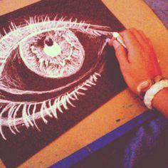 Oil pastel eye