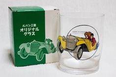 RARE! Lupin the 3rd Third Original Glass Presented By ESSO JAPAN ANIME