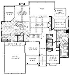 Glenmore (b) - Home Plans and House Plans by Frank Betz Associates   .... I think this is a pretty plan....  I really like the downstairs! ....  dw