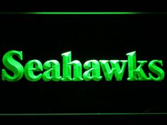 Seattle Seahawks 1976-2001 Text LED Neon Sign - Legacy Edition