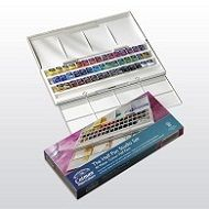 Winsor and Newton Cotman Studio 45 half Pan Watercolour Set.45 watercolors.