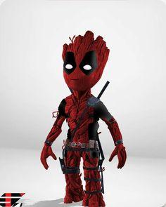 credits marvel_dc_p # spiderman Deadpool Wallpaper, Avengers Wallpaper, Deadpool Pikachu, Deadpool Art, Marvel Art, Marvel Heroes, Marvel Comics, Baby Groot, Marvel Tattoos