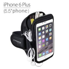 Avantree Trackpouch iphone 6 plus armband , Running / Gym / Jogging Exercise Neoprene sports armband for iPhone 6 Plus, Samsung Galaxy Note 4/Note 3, S6/S5 and more