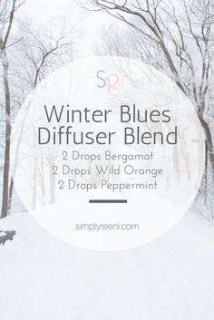 "Winter Blues Diffuser Blend to use with essential oils! Sometimes during the winter we need some uplifting. This diffuser blend helps support our bodies during the ""winter"" months✨"