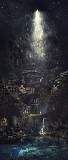 Elven Fantasy City Concept Art