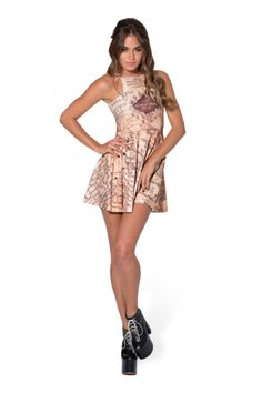 Marauders Map Reversible Skater Dress › Black Milk Clothing