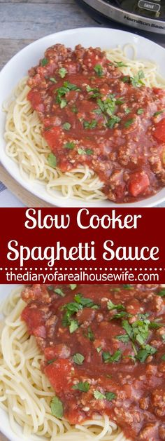 Slow Cooker Spaghetti Sauce - The Diary of a Real Housewife