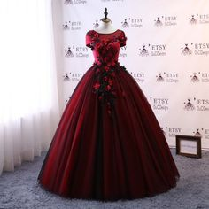 Modest Burgundy Tulle Black Lace Prom Ball Gown Tulle Bridal Wedding Dress Lace Women Formal Evening Gown Illusion Neck Prom Party Dress - Evening Gowns - Ideas of Evening Gowns Bridal Wedding Dresses, Prom Party Dresses, 15 Dresses, Tulle Wedding, Dress For You, Designer Dresses, Ball Gowns, Pinterest Account, Dress Lace