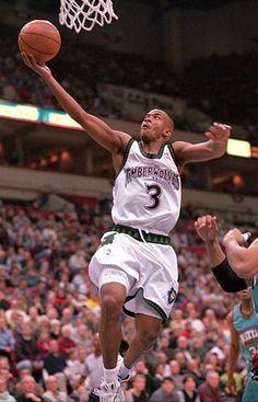 """Starbury"" Stephon Marbury Drafted in 1996 Stephon Marbury, Nba League, Minnesota Timberwolves, Sports Stars, Basketball Players, 1990s, Legends, Hardwood, Childhood"