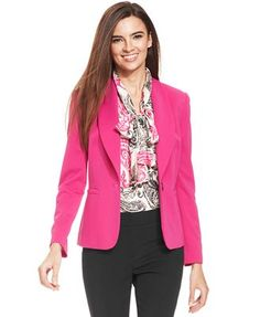 Nine West Single-Button Stretch Blazer