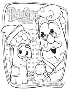Veggie Tales Pistachio The Little Boy That Woodnt Coloring Pages