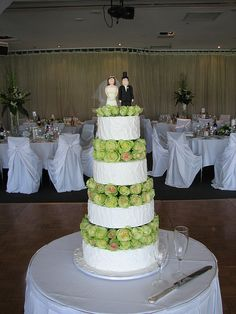based on rikki lee coulters wedding cake. 110 beautiful fresh flowers in between the tiers! royal iced cake     Great ideas!