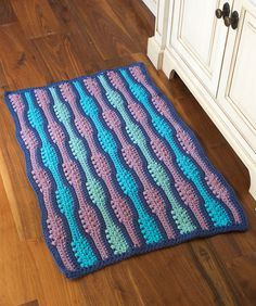 "Free pattern for ""Textured Waves Rug""!"