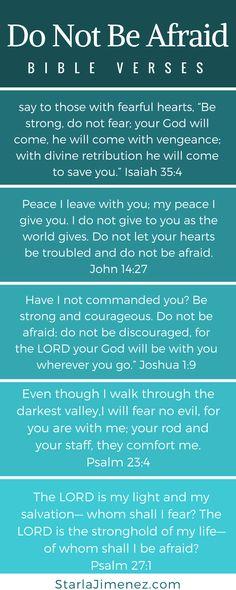 Do not be afraid Bible Verses