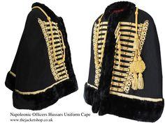 SALE ITEM! - Officers Napoleonic Hussars Uniform Military Cape (SIZE MEDIUM) #JacketsCoatsCloaks