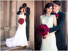 Classic Black, White & Red Wedding In California | Bridal Musings