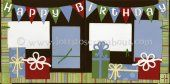 Happy Birthday (Boy) Scrapbook Page Kit [happybirthdayboy12] - $7.99 :: Lotts To Scrap About - Your Online Source for Scrapbook Page Kits!
