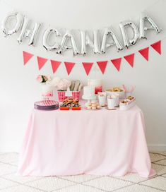 """Mylar balloons add an instantly fun and festive feel to any occasion. Buy letters to spell out """"Oh Canada"""" or """"Happy Canada Day"""" or just a classic Canadian """"Eh"""" to add the perfect party look to your celebration. Graduation Party Centerpieces, Birthday Decorations, Graduation Ideas, Graduation Gifts, Canadian Party, Canada Birthday, Canada Day Party, Canada Holiday, Party"""