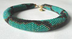 Python green Python necklace bead necklace jewelry beadwork