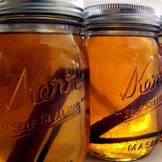 Just in case you were wondering!! Grandma's Apple Pie 'Ala Mode' Moonshine: 1/2 gallon apple juice; 1/2 gallon apple cider; 4 cinnamon sticks; 1 whole clove; 1 cup white sugar; 1 cup brown sugar; 3 cups 190 proof grain alcohol (such as Everclear®); 2 cups vanilla vodka. Holy shit!!!