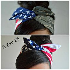 Camo Patriotic Dolly bow Military American Flag head by JLeeJewels Country Outfits, Country Girls, American Flag Bandana, Bling Bling, Army Girlfriend, Army Mom, Headband Hairstyles, Look Cool, Swagg
