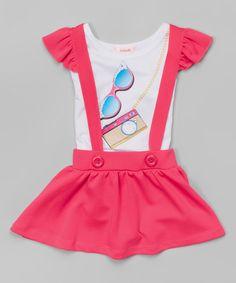 Look what I found on #zulily! Pink Sunglasses Tee & Jumper - Toddler & Girls by Unik #zulilyfinds