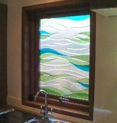fused glass kitchen window