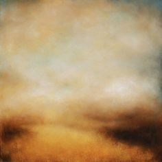 "ARTFINDER: One Golden Day by Kerr Ashmore - From the series ""Somewhere in Reverie"" this atmospheric, warming abstract landscape is painted on a quality, deep edge, 100% cotton canvas.  I have much lov..."