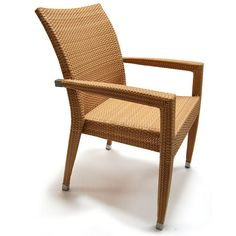 This synthetic rattan side chair will look great in your garden. You can also use it in your terrace or next to your dining table.