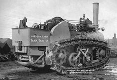 vintage photos of steam power | ... below of a steam powered machine courtesy of hornsby steam crawler